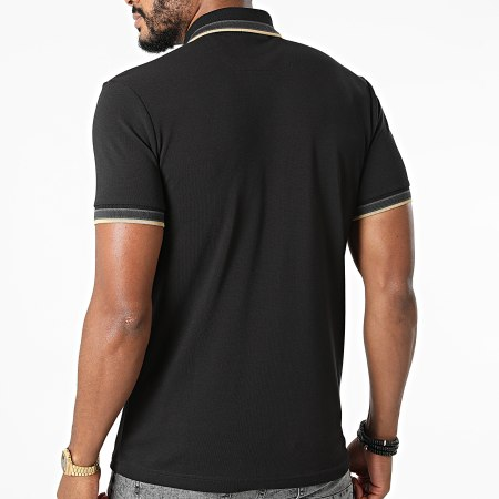 BOSS By Hugo Boss - Polo Manches Courtes Paddy 50398302 Noir Doré