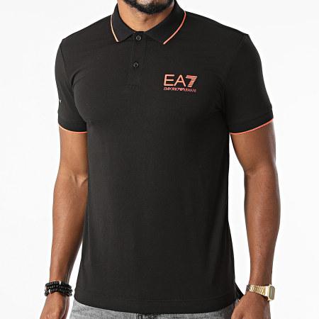 EA7 Emporio Armani - Polo Manches Courtes 6KPF04-PJAMZ Noir