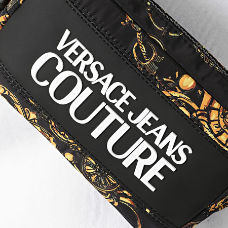 Versace Jeans Couture - Sac Banane Range Logo Type Noir Renaissance