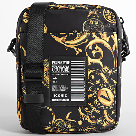 Versace Jeans Couture - Sacoche Range Logo Type Noir Renaissance