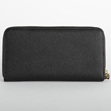 Versace Jeans Couture - Portefeuille Femme Range Logo Lock Noir