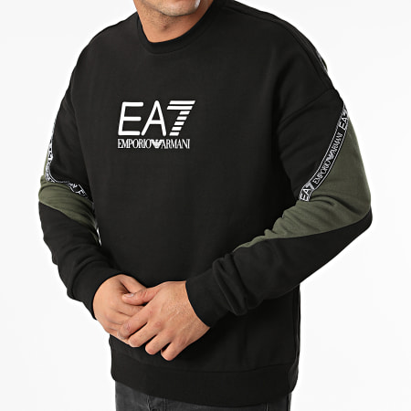 EA7 Emporio Armani - Sweat Crewneck 6KPM28-PJ07Z Noir Vert Kaki