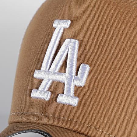 New Era - Casquette Trucker Adjustable Cotton Los Angeles Dodgers Camel Blanc