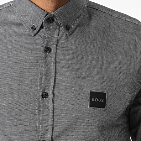 BOSS By Hugo Boss - Chemise Manches Longues Mabsoot 50462815 Gris Chiné