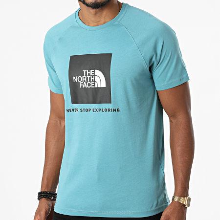 The North Face - Tee Shirt Rag Red Box A3BQ0 Bleu Clair