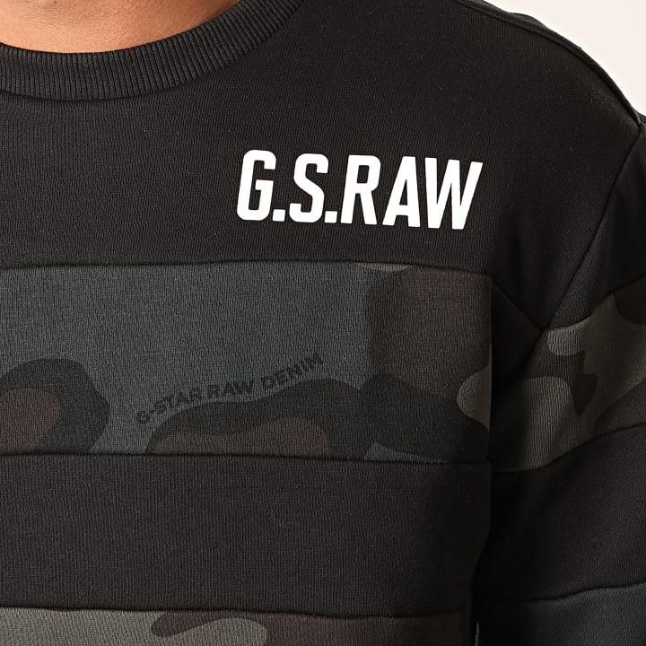 G Star Sweat Crewneck Graphic 7 D15658 C022 Vert Kaki